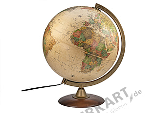 Illuminated globe antique style 30cm german