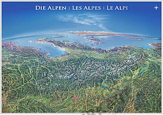 Panorama Karte Alpen