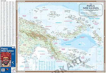 Papua Neu Guinea Landkarte 98 x 67cm