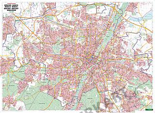 München Stadtplan 123 x 89cm