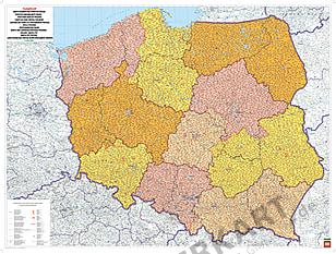 Polen Postleitzahlenkarte PLZ Karte von Polen