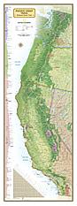 Pacific Crest Trail Landkarte Poster