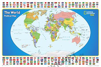Kinder Weltkarte von National Geographic