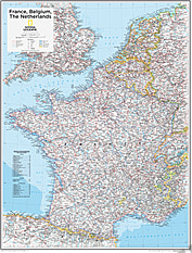 Frankreich, Belgien, Niederlande 73 x 91cm