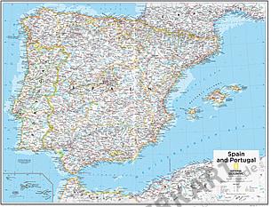 Spanien und Portugal 73 x 91cm