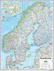 Skandinavien Karte 73 x 91cm
