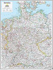 Germany Wall Map 73 x 91cm