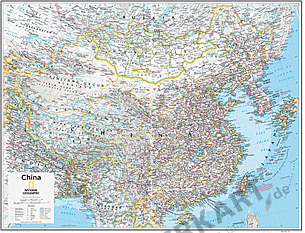 China Map 91 x 73cm