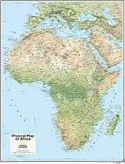 Afrika kort fysisk 73 x 91cm