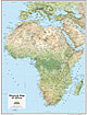 Africa Map Physical 73 x 91cm
