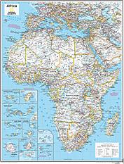 Afrika Kort 73 x 91cm