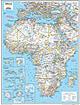 Afrika Karte 73 x 91cm