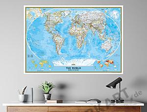 Political World Map Standard Size 109 X 76cm