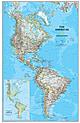 Politische Amerika Landkarte Poster von National Geographic