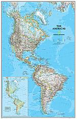 Politische Amerika Karte - Magnetwand