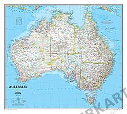 Kort over Australien fra National Geographic