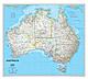Australien Landkarte von National Geographic
