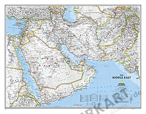 Mittlerer Osten Karte National Geographic