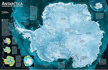 Antarktis Satelliten Karte