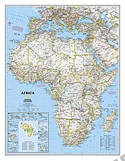 Politisk kort over Afrika (standardformat)