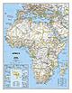 Politische Afrika Karte (Großformat)