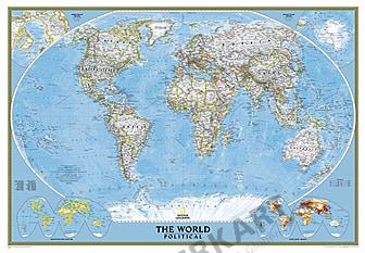 Politische Weltkarte im Riesenformat Poster von National Geographic