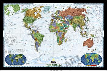 Weltkarte Poster im Großformat von National Geographic