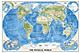 Physikalische Weltkarte im Großformat von National Geographic