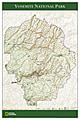 Yosemite National Park Landkarte von National Geographic Karte