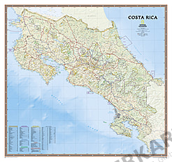 Costa Rica Karte National Geographic