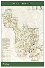 Zion National Park Landkarte von National Geographic