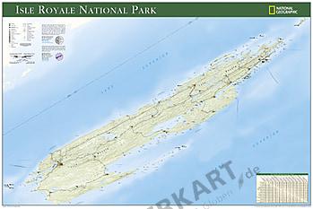 Isle Royale National Park Landkarte Poster von National Geographic
