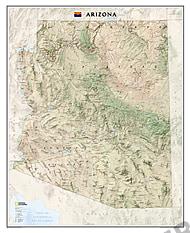 Arizona Landkarte Karte als Poster von National Geographic