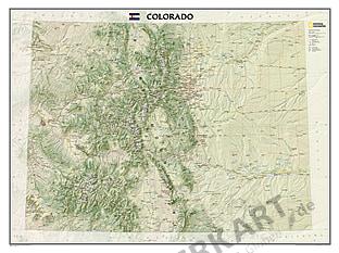 Colorado Landkarte von National Geographic