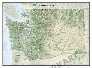 Washington kort