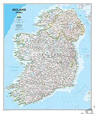 Irland Landkarte von National Geographic