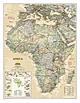Politische Executive Afrika Karte von National Geographic
