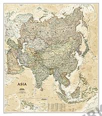 NGS Politische Asien Executive Karte