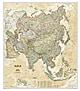 Asien Karte - politisch Executive historischer Stil von National Geographic