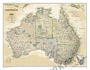 Executive Australia Wall Map from National Geographic