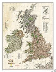 Großbritannien und Irland Executive Karte