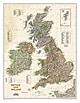 Großbritannien und Irland Executive Karte von National Geographic