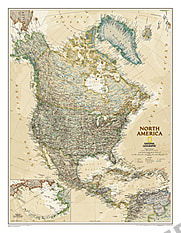 Executive Nord Amerika Karte