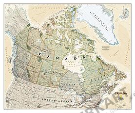 Executive landkort over Canada