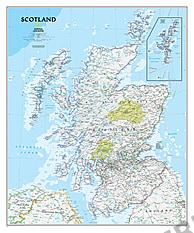 Schottland Landkarte - Schottland Karte Poster von National Geographic