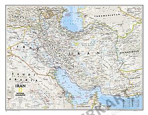 Iran Landkarte als Poster von National Geographic