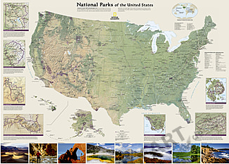 USA National Park plakat 106 x 76cm