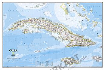Cuba Wall Map 91 x 61cm