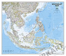 Südost Asien Landkarte - Karte als Poster von National Geographic
