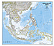 South East Asia Wall Map Poster from National Geographic